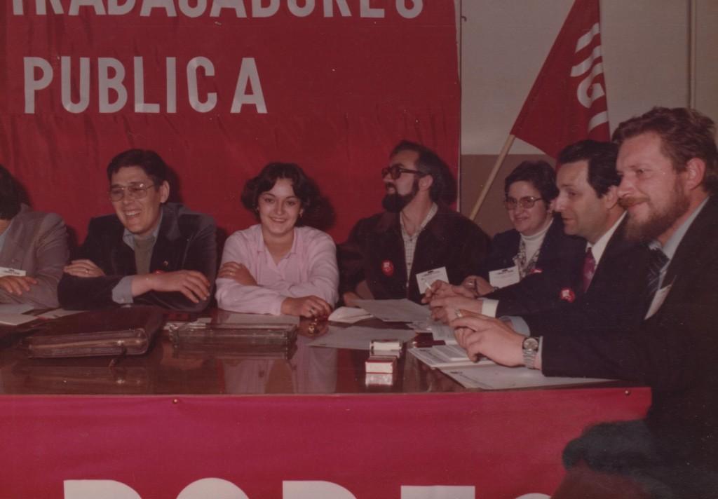 Carmen Ferrero junto a otros miembros de la UGT