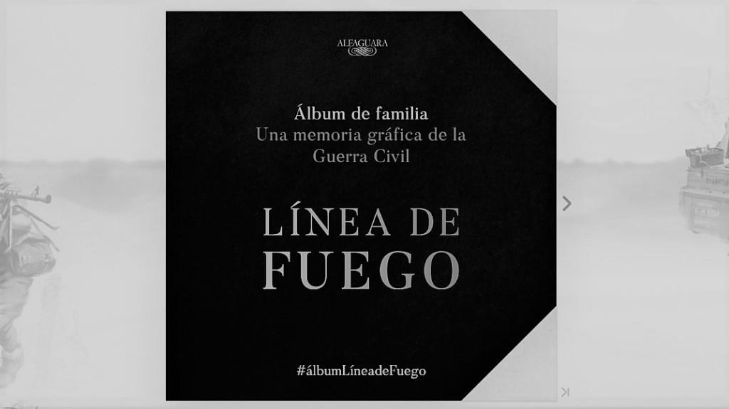 "Captura de la web ""Línea de Fuego"" de Pérez Reverte"