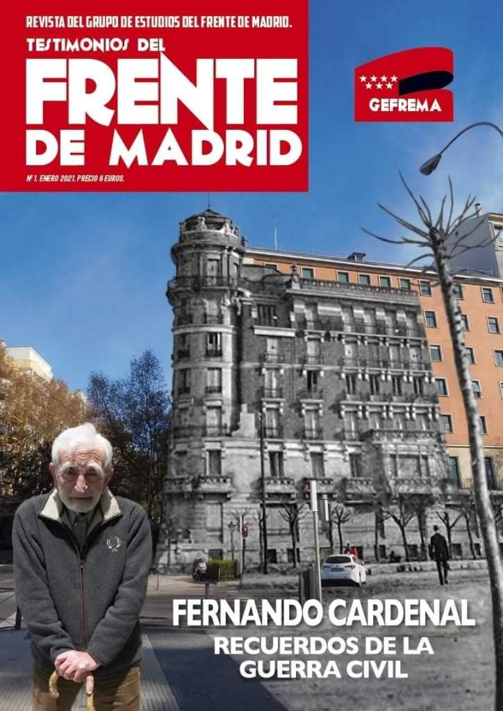 """Portada del primer número de """"Testimonios del Frente de Madrid"""""""