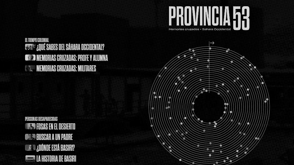 """Captura de pantalla de la web de """"Provincia 53"""""""