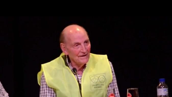 Marcos Ana en el homenaje que le hizo Yayoflautas de Madrid